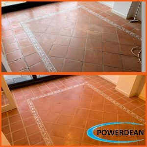 Terracotta cleaning, sealing and waxing